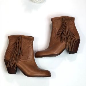 Sam Edelman Leather Booties Size 7.5